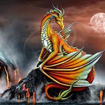 "Fantasy Dragon Illustration "" Everly "" art for licensing  / licensing artist"