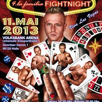Illustration für das Plakat der la familia Fightnight 2013