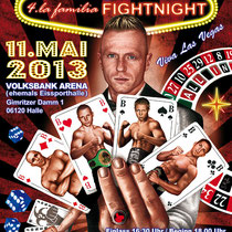 Illustration für das Plakat der la familia Fightnight 2013