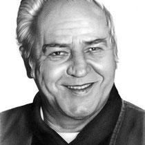 Portrait eines älteren Herren mit Bleistift