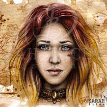 "Gothic Fantasy Illustration ""Quiline"" art for licensing  / licensing artist"