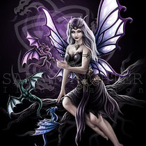 "Gothic Fantasy Illustration "" Dragon Keeper "" art for licensing  / licensing artist"