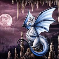 "Fantasy Dragon Illustration "" Violet "" art for licensing  / licensing artist"