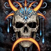 "Gothic Fantasy Illustration "" Moon Queen "" art for licensing  / licensing artist"