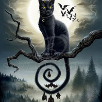 "Gothic Fantasy Illustration "" Moonlight Companions "" art for licensing  / licensing artist"