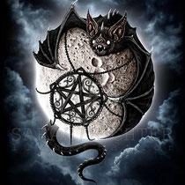 """Gothic Fantasy Illustration """" Full Moon """" art for licensing  / licensing artist"""