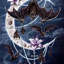 "Gothic Fantasy Illustration "" Bats´Moon "" art for licensing  / licensing artist"