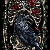 """Gothic Fantasy Illustration """" Corvus """" art for licensing  / licensing artist"""