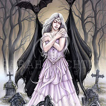 "Gothic Fantasy Illustration "" Night`s Embrace "" art for licensing  / licensing artist"