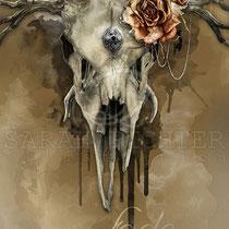 """Digital gothic fantasy Illustration """" All shall fade""""  art for licensing / licensing artist"""