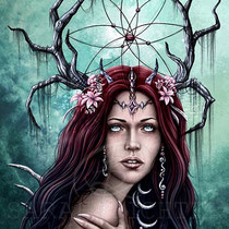"Gothic Fantasy Illustration "" Dreamcatcher2 "" art for licensing  / licensing artist"