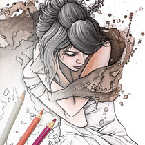 A winters tale 2 / Coloring Page - Gothic Fantasy von Sarah Richter