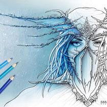 Dreamcatcher / Coloring Page - Gothic Fantasy von Sarah Richter