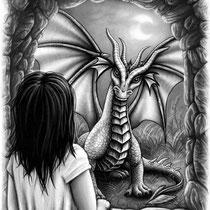 """Illustration für das Kinderbuch """" Linus und der Drache Oculai """" von Heidi Sutter"""