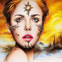 """Gothic Fantasy Illustration """"Shibalba"""" art for licensing  / licensing artist"""