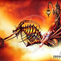 "Gothic Fantasy Illustration "" The Ferryman"" art for licensing  / licensing artist"