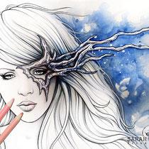 Sevanja / Coloring Page - Gothic Fantasy von Sarah Richter
