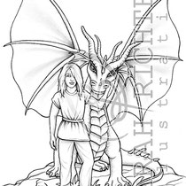 Linus & Oculai / Coloring Page - Fantasy von Sarah Richter