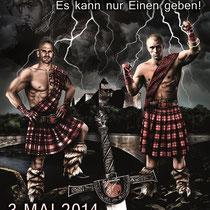 Illustration für das Plakat der la familia Fightnight 2014