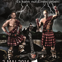 Illustration für das Plakat der la familia Fightnight 2014