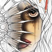 Nahimana / Coloring Page - Gothic Fantasy von Sarah Richter