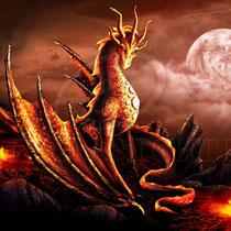 """Fantasy Dragon Illustration """" Alessa """" art for licensing  / licensing artist"""
