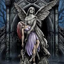"""Gothic Fantasy Illustration """" the eternal fight"""" art for licensing  / licensing artist"""
