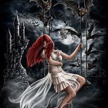 "Gothic Fantasy Illustration "" Dracula`s Bride "" art for licensing  / licensing artist"