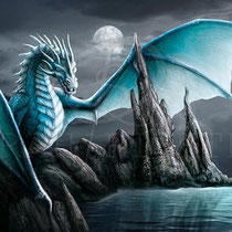 "Fantasy Dragon Illustration "" Cameron "" art for licensing  / licensing artist"