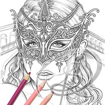 Venice / Coloring Page - Gothic Fantasy von Sarah Richter