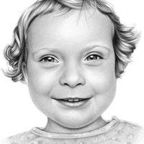 Portraitzeichnung eines Kindes mit Bleistift