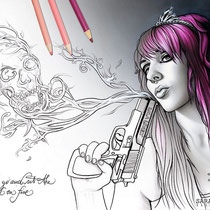 Lola Lovely / Coloring Page - Gothic Fantasy von Sarah Richter