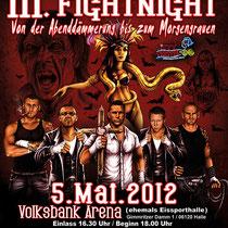 Illustration für das Plakat der la familia Fightnight 2012