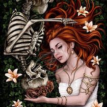 "Gothic Fantasy Illustration "" Always "" art for licensing  / licensing artist"