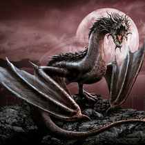 "Fantasy Dragon Illustration "" Darius "" art for licensing  / licensing artist"