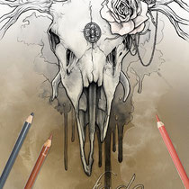 All shall fade / Coloring Page - Gothic Fantasy von Sarah Richter