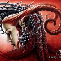 "Gothic Fantasy Illustration "" Queen Evil""  art for licensing  / licensing artist"