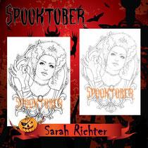 Frankenstein`s Bride / Spooktober Coloring Page / Gothic Fantasy von Sarah Richter