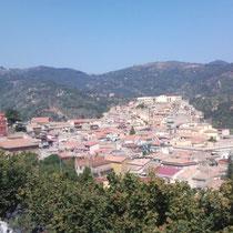 Consolidamento zona centro abitato in San Piero Patti - Foto dell'area d'intervento