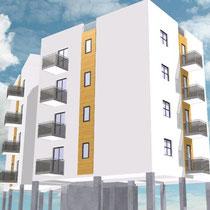 Contratto di Quartiere II San Cataldo - Alloggi nuova costruzione - Rendering