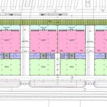 Area Commerciale Integrata in Foggia - Medie strutture di vendita - Layout funzionale e distributivo corpi a schiera