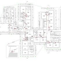 Scuola Media G. Pardo di Castelvetrano - Piano terra - Impianto quadri elettrici e messa a terra