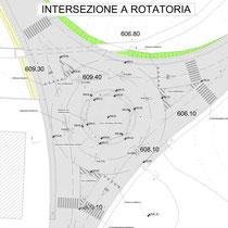 Contratto di Quartiere II San Cataldo - Viabilità - Particolare intersezione a rotatoria