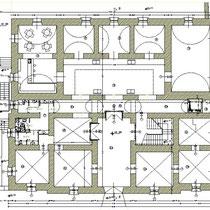 Palazzo Municipale di Santa Caterina Vill.sa - Pianta piano terra