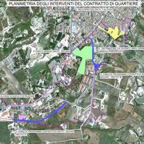 Contratto di Quartiere II San Cataldo - Planimetria interventi