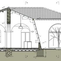 Ex Mattatoio comunale di Aidone - Sezione trasversale