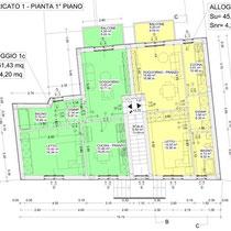Contratto di Quartiere II San Cataldo - Recupero edilizio - Pianta fabbricato 1