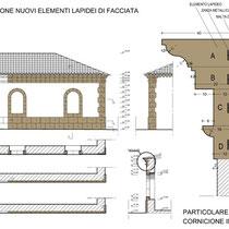 Ex Mattatoio comunale di Aidone - Studio integrazione elementi lapidei di facciata
