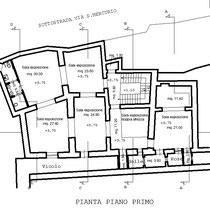 Corpi annessi al Palazzo Sgadari di Gangi - Pianta 1° piano