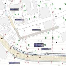 Consolidamento zona centro abitato in San Piero Patti - Planimetria opere di ripristino